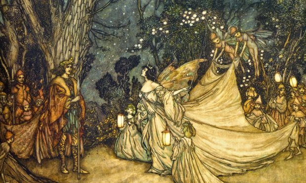 oberon and titania by arthur rackhan